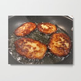 Potato Cakes Metal Print