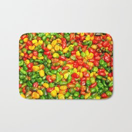 Colorful spicy chili pattern Bath Mat