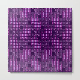 BRIXHAM, VINTAGE RETRO SQUARES: PASSION FOR PURPLE Metal Print