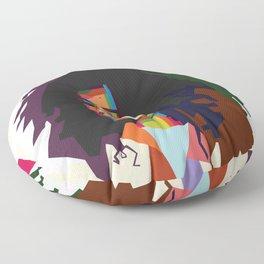 beautiful frizzy girl Floor Pillow