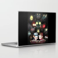gravity falls Laptop & iPad Skins featuring Gravity Falls - Monster Manual by Rebexorcist