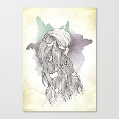Weather Lady Canvas Print
