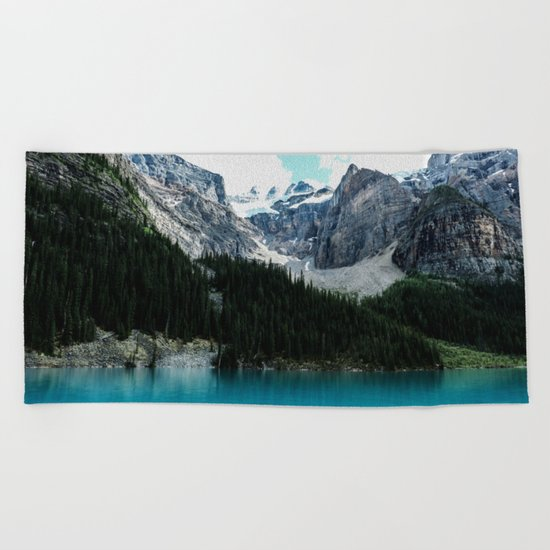 Moraine lake Wander (landscape) Beach Towel