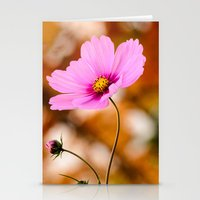 cosmos Stationery Cards featuring Cosmos by LudaNayvelt