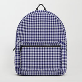 Midnight Blue Gingham Backpack