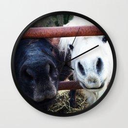 Pony Noses Wall Clock