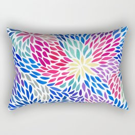 Flowing Leaves Purple & Blue Pattern Rectangular Pillow