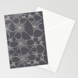 Spiderweb Pattern in Black Stationery Cards