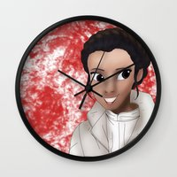 leia Wall Clocks featuring Leia by BellaG studio