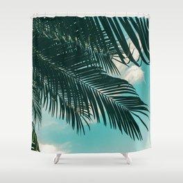 Tropical Palms #palm tree Shower Curtain