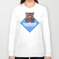 rocket raccoon Long Sleeve T-shirts featuring Guardians of the Galaxy - Rocket Raccoon by Casa del Kables