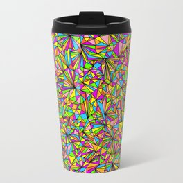 Pure Geometry Black Travel Mug