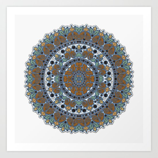Knitting Art Print : Knit mandela art print by robin curtiss society