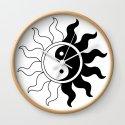 Yin Yang symbol sun in black white by pixxart
