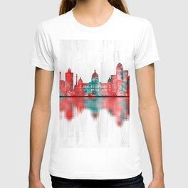 Des Moines Iowa Skyline T-shirt