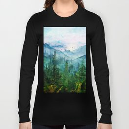 Spring Mountainscape Long Sleeve T-shirt