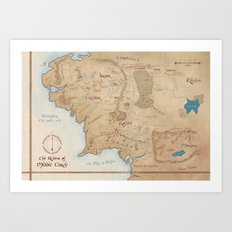 Map of Middle Earth Art Print