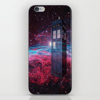 dr who iPhone & iPod Skins featuring Dr Who police box  by store2u