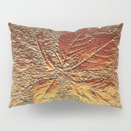 Rust glitter leaves in fall Pillow Sham