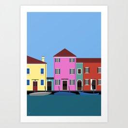 Isola di Burano, Italy Art Print