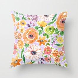 Peach Blush Throw Pillow