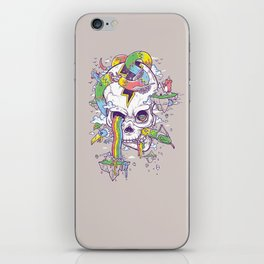 Flying Rainbow skull Island iPhone Skin