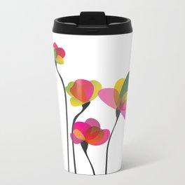 Abstract Flowers Metal Travel Mug