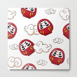 Cute Daruma Pattern Metal Print