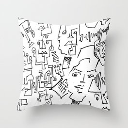 ten faced Throw Pillow