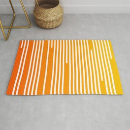 Abstract Geometric Summer With Lines Rug