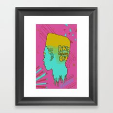 Melt Head Framed Art Print