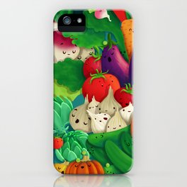 Nice People Eat Vegetables - background (Made with Danny Ivan) iPhone Case