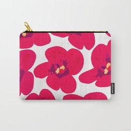 Red Retro Flowers #decor #society6 #buyart Carry-All Pouch