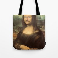 swanson Tote Bags featuring Mona Swanson by RAOqwerty