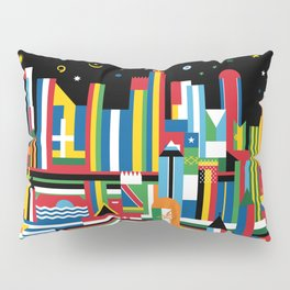 Flagscapes: World Cityscape Pillow Sham