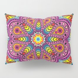 rastafarian mandala in rainbow colors Pillow Sham