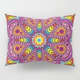 rastafarian mandala in rainbow colors Pillow Sham