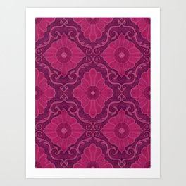 Ruby flowers Art Print