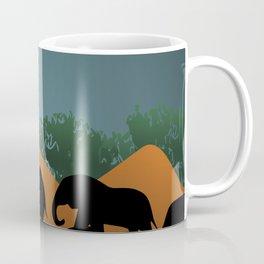 Elephant Family Illustration Coffee Mug