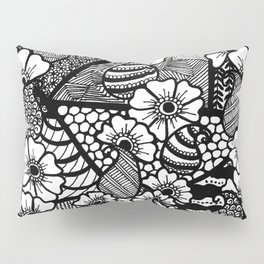 zentangle and flowers Pillow Sham