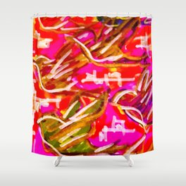 Fly like a Bird in Pink Shower Curtain