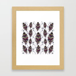Dance of Feathers Framed Art Print