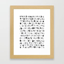 Drops Pattern Framed Art Print