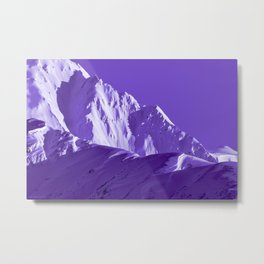 Alaskan Mts. I, Bathed in Purple Metal Print