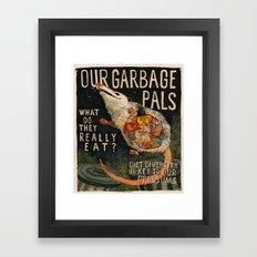 GARBAGE PALS Framed Art Print