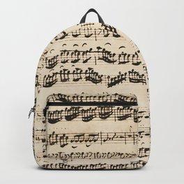 Johann Sebastian Bach (1685 – 1750) original music sheet Backpack