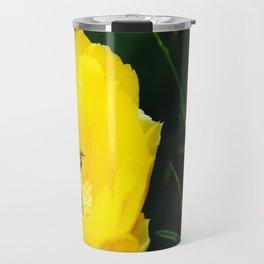 Cactus Flower, Bee and Grasshopper Travel Mug