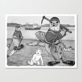 Commercial Man Hunt Canvas Print
