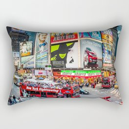 Times Square II Special Edition III Rectangular Pillow