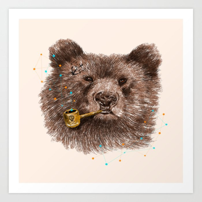 Sailor Bear II Art Print